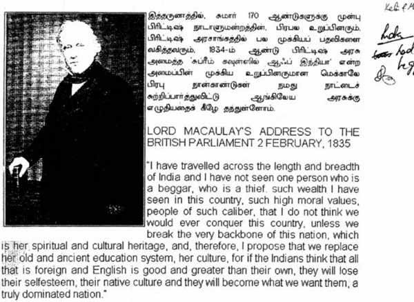 Macaulay's Speech