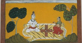 Shiva Parvati Playing Dice